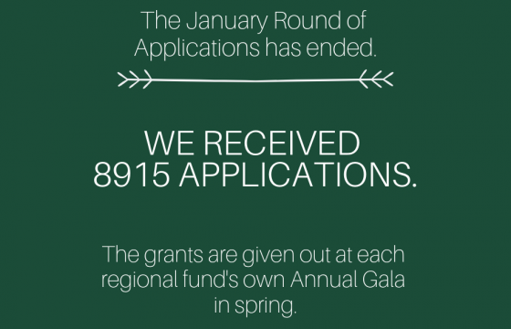 January application round has ended