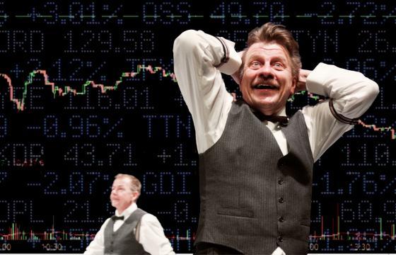 Lehman on yhteistyökumppanin Teatteri Metamorfoosin Stefano Massinin Lehman trilogy esityksestä. Kuva: David Kozma