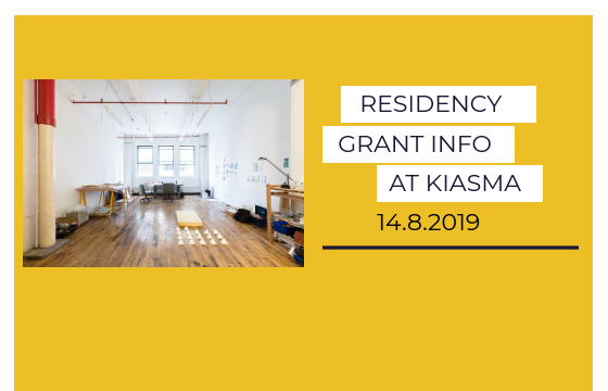 Residency info at Kiasma on 14.8.2019