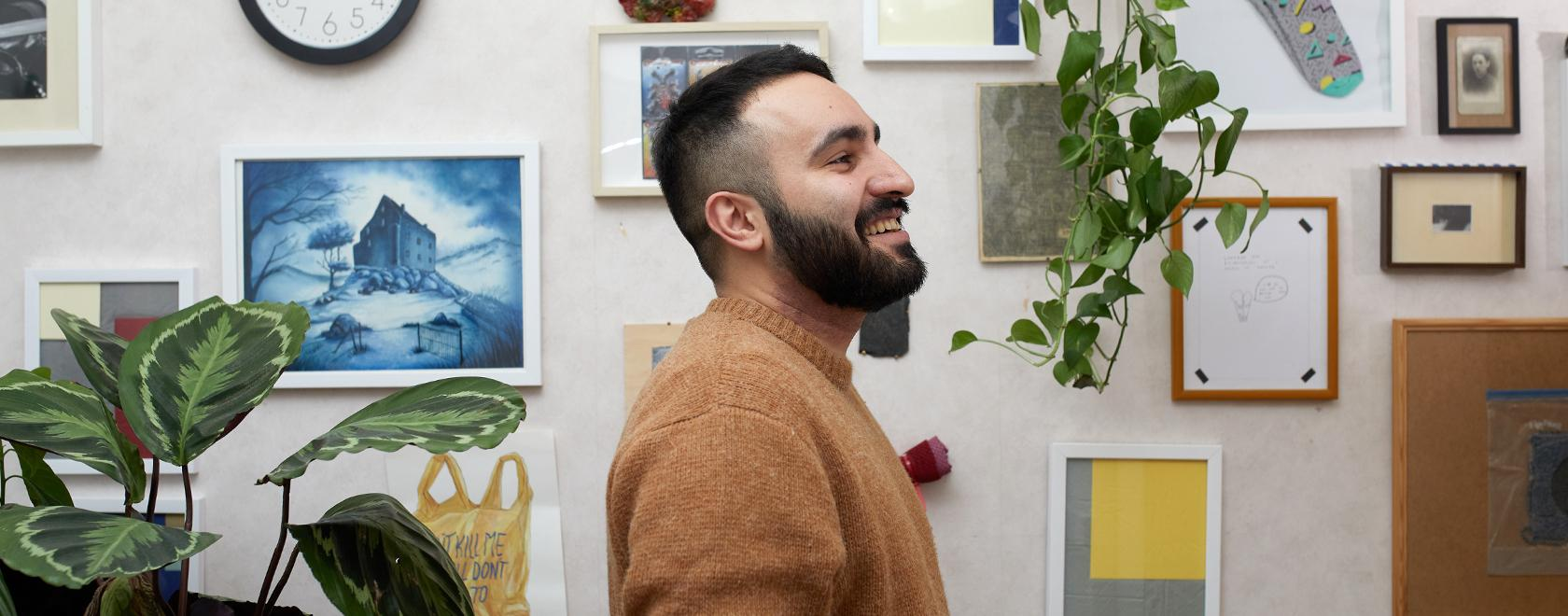 Fakharzadeh, who grew up in the north of Iran, says that he prefers to call himself an artworker to emphasise the fact that being an artist is work. Picture: Laura Iisalo